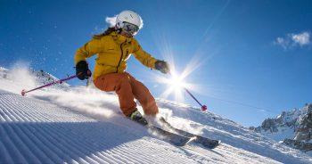 Skiën in de sneeuw