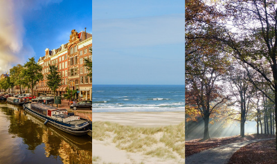 Stad, strand, natuur